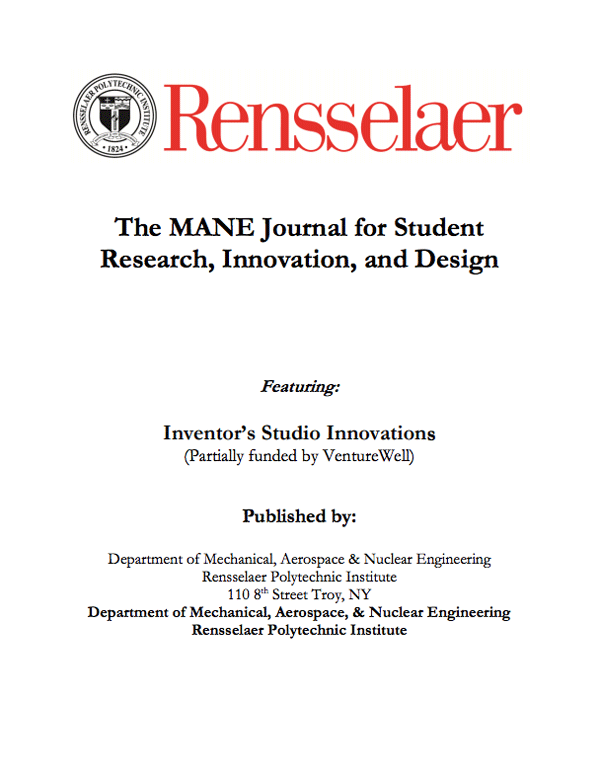 Mane Student Research & Design Journal
