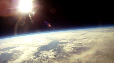Students at the Edge of Space